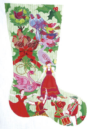 12 days of christmas stocking