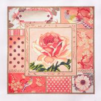 Rose Pink Floral Collage