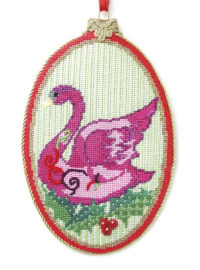 Seven Swans a Swimming Ornament