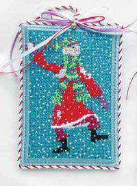 Snowball Santa Ornament