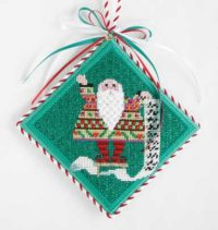 Santa with List Ornament