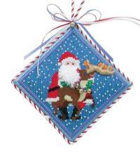 Santa with Reindeer Ornament