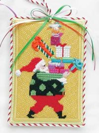 Santa with Packages Ornament
