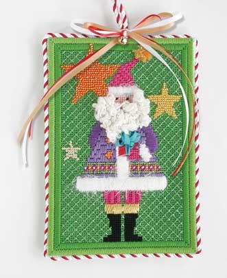 Santa with Stars Ornament