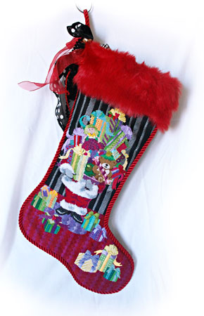 Santa Packages Stocking