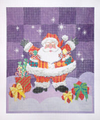 Patterned Santa