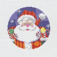 Patterned Santa Ornament