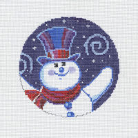 Swirling Snowman Ornament