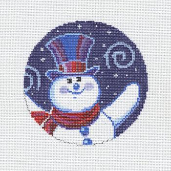 Swirling Snowman Ornament