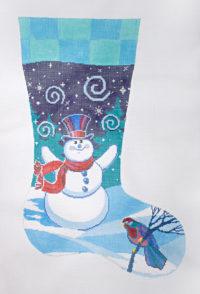 Swirling Snowman Stocking