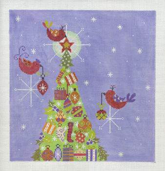 Purple Bird Tree Traditional