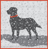 Peggy Black Lab Canvas