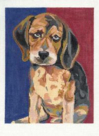 Beagle Pup Handpainted Canvas