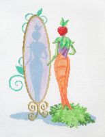 Carrot Lady with Mirror