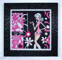 Flirty Girl Collage Pink Black