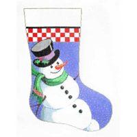 Smiling Snowman Stocking