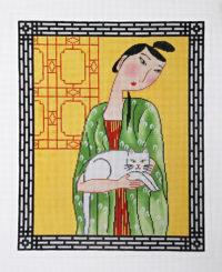 Lady Portrait w/Cat