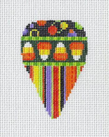Candy Corn Dots Stripes