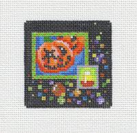 Pumpkin Candy Corn Square