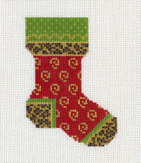 Red Leopard Sock