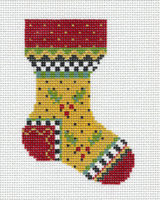 Yellow Holly Sock