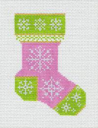 Pink Snowflake Sock
