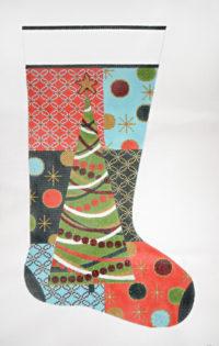 Christmas Tree Collage Stocking