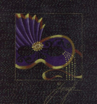 Carnevale Mask Mini Purple