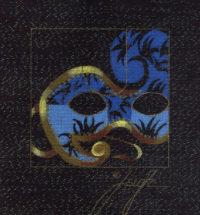 Carnevale Mask Mini Blue