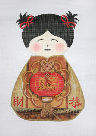 Asian Doll Red Lantern
