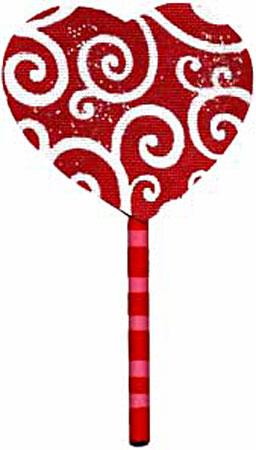 Red Swirls Lollipop