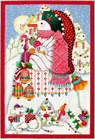 Peppermint Stick Snowman