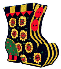 Halloween Sunflower Witch Boot