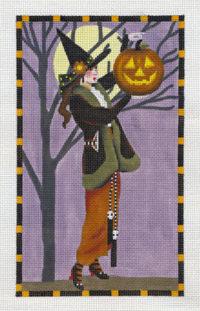 Witch with Big Pumpkin