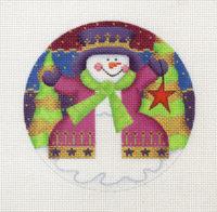 Round Snowman in coat