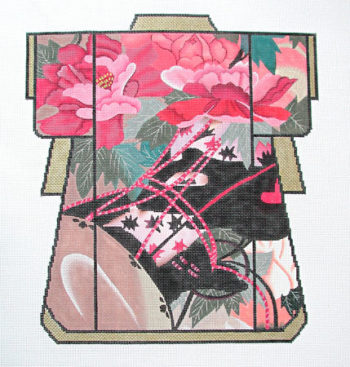Red Peony Kimono
