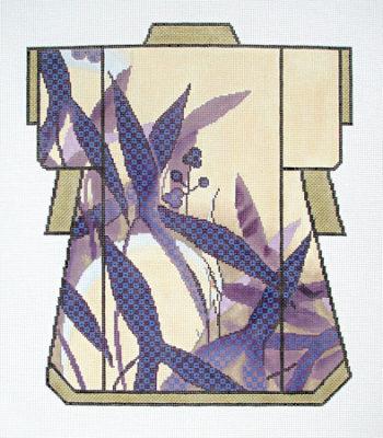 Purple Leaves Kimono