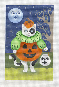Kitten in Pumpkin Costume