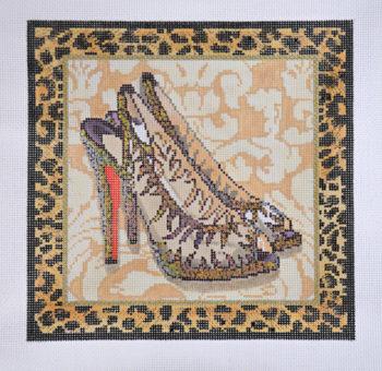 Silver Gold Leopard Shoe