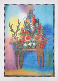 Reindeer Bearing Gifts