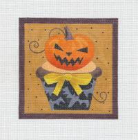 Halloween Skull and Crossbones Cupcake