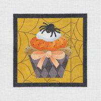 Halloween Skull and Spider Cupcake