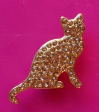 Exclusive Gold Cat Magnet