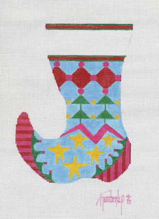 Colorful Shapes Mini Sock