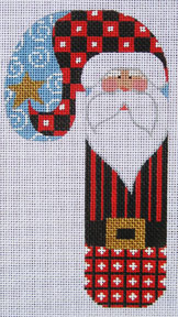 Striped Santa Candycane Ornament