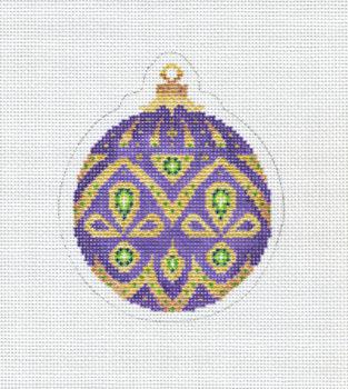 Christmas Ball Purple Gold