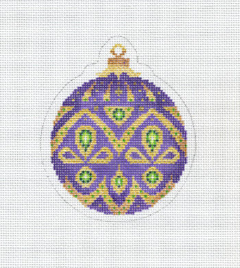 Christmas Ball Purple Gold