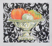 Elegant Pumpkins in Urn