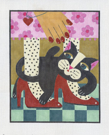Black Cat Red Shoes