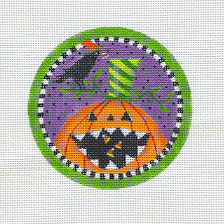 Pumpkin and Crow Ornament